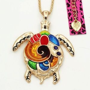 Betsey Johnson Turtle Necklace